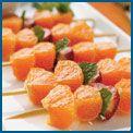 Yum, orange, strawberry and mint