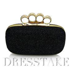 Spring Style Ring Buckle Rhinestone Party Handbags