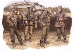Waffen SS troopers from Kampfgruppe Peiper during the opening days of the Battle of the Bulge.