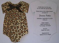 Animal Print Onesie Baby Shower Zebra or by keepsakeimprints, $1.50