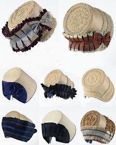Zuid-Bevelandse en Walcherse kaphoeden. Beeldcompositie Katie Heyning (Zeeuws Museum en Zeeuws Museum-collectie KZGW)