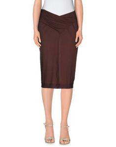 LAMBERTO LOSANI Women's 3/4 length skirt Dark brown S INT