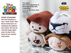 Star Wars: Episode III - Revenge of the Sith Tsum Tsum collection coming April 4, 2017!