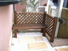 ウリン材のベンチ Outdoor Furniture, Outdoor Decor, My Works, My Design, Bench, Construction, Home Decor, Building, Interior Design