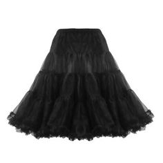 """Amazon.com: Lindy Bop Classic 26"""" Organza Net Mesh Tulle Petticoat for Rockabilly Swing Dresses: Clothing"""