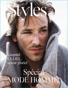 Gaspard Ulliel covers the September 2016 issue of L'Express Styles.