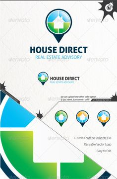 House Direct  #GraphicRiver         Hello.  	 This is an excellent logo template, with a versatile feeling, that may suit your company, organization or studio, in order to develop your business communication and reach your target more precisely.  	 Step up with your business with a professional and modern Logo and manage your clients expectations through a positive approach! If you need any other colour variation, contact us and we'll upload it.  	 Best regards  	 Go Studio Team     Created…