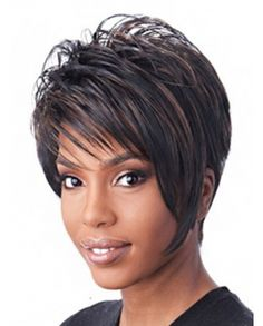 Top Grade Short Layer Frosty Synthetic Wig