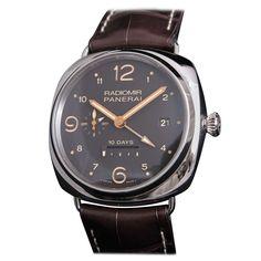 Panerai Stainless Steel Radiomir GMT 10 Days PAM 391 Wristwatch circa 2012