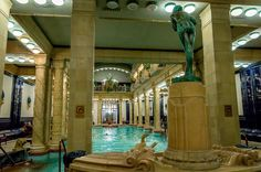 The indoor Gellert Baths in Budapest, Hungary.