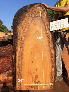 "Angelim Pedra, BRAZIL STOCK - ETA 60 - 120 DAYS 2 1/2"" x 21"" to 24"" x 50"" - Big Wood Slabs"