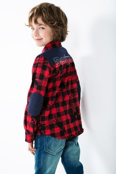 The elbow and back patches add an extra edge to this red-check shirt. It's never…