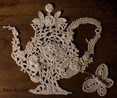 Venetian Crochet Teapot by Ann Reillet