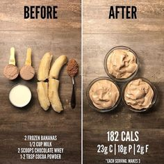 "Calorie Fixes on Twitter: ""Banana Protein Chocolate Frosty 🍌😍🍦I… """