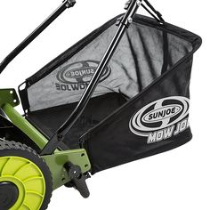 Sun Joe® 16 Inch Manual Reel Mower with Grass Catcher Manual Lawn Mower, Reel Lawn Mower, Golf Bags, Catcher, Baby Strollers, Grass, Sun, Modern Design, Black