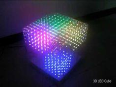 3D LED RGB Cube 10x10x10