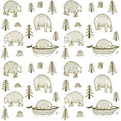 brown_bears fabric by serenacurmi on Spoonflower - custom fabric