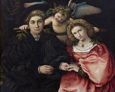 Micer Marsilio Cassotti y su esposa Faustina - Lorenzo Lotto @ Museo Nacional de Prado