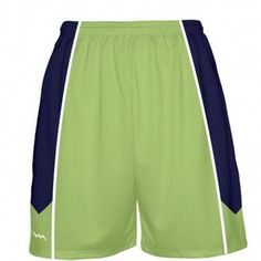 d9b42c00863 Lime Green Basketball Shorts from Lightning Wear. Design basketball uniforms  with any color or pattern.