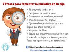 7 Frases para fomentar la iniciativa en tu hijo Kids And Parenting, Parenting Hacks, English Games, Teacher Hacks, School Counseling, Mother And Father, Classroom Organization, Raising Kids, Baby Care
