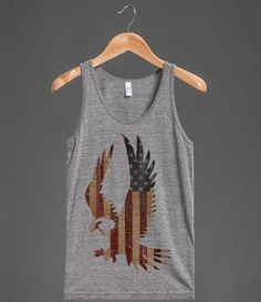 God bless America. Land of the free, home of the graphic tee. Take this classic home for Fourth of July glory, or wear on the regular for the casual sort of glory only an American flag eagle can provide. The founding fathers would've definitely at least BBQ'd on the weekends in this bad boy.