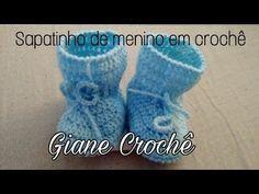 Sapatinho de Crochê - Sapatinho de bebê tradicional - Completo - YouTube