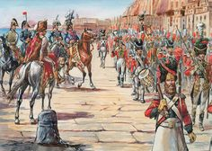 The King of Naples is in his capital and is reviewing the Grenadiers of his Guard