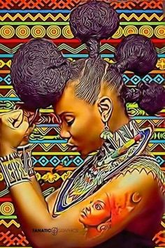 History of Black Self-Hatred in the styling of Black Hair during & after Slavery in the Black African American History video documentary: The Inferiority Seed Sexy Black Art, Black Love Art, Black Girl Art, My Black Is Beautiful, Natural Hair Art, Pelo Natural, Natural Hair Styles, Moda Afro, Black Art Pictures