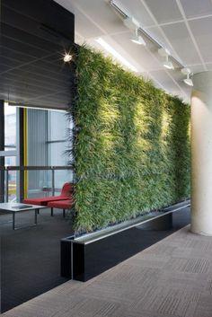 #Groen op #kantoor? Mooie groene wand.  http://www.webloom.nl/ in #Amsterdam