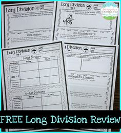 FREE Long Division Review or assessment!