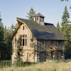 Old barn house Farm Barn, Old Farm, Cattle Barn, Goat Barn, Barn House Design, Barn Living, Country Living, Barns Sheds, Country Barns