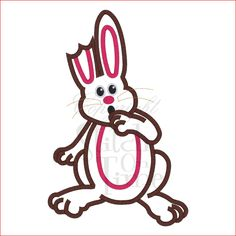Easter (96) Chocolate Bunny Rabbit Applique 5x7