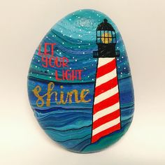 """44 Likes, 2 Comments - S. Stich Rocks (@sstichrocks) on Instagram: """"More lighthouse action. I can't stop myself. #paintedrocks #rockart #rockpainting #stoneart…"""""""