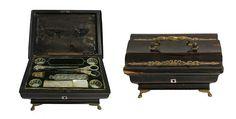 EUROPEAN MUSICAL SEWING BOX 19th CENTURY