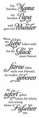 """Clear Stamp-Set Stempel-Gummi - Karten-Kunst Weise Worte """"Baby"""": Amazon.de: Küche & Haushalt"""