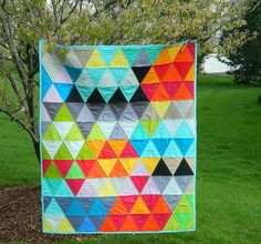 triangle quilt by sotakhandmade