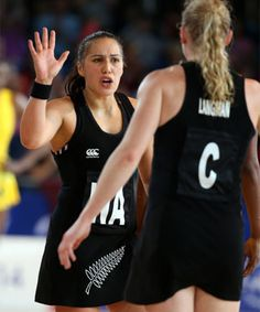 New Zealand Silver Ferns Liana Leota and Laura Langman in action during the New Zealand v Jamaica netball match at the Commonwealth Games Glasgow Scotland on the of July Mandatory Photo Credit ©Michael Bradley. Michael Bradley, Silver Fern, Commonwealth Games, Netball, World Championship, Ferns, Photo Credit, Athletic Tank Tops, Tank Man