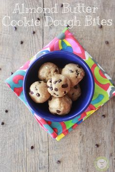 Almond Butter Raw Cookie Dough Bites | kneadtocook.com @IamRunner :: gluten free, vegan, raw