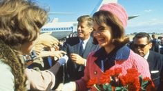 jacqueline kennedy's smart pink suit, preserved in memory and kept out of view.