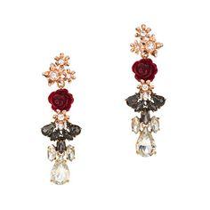 J.Crew - Rosette drop earrings