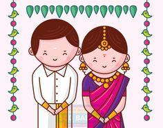 Tamil Nadu - South Indian Wedding Invitation Card Design and Illustration by www.scdbalaji.com