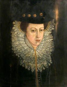 Portrait of a Lady of the Time of James I  by British School       Oil on panel, 57.8 x 44.8 cm  Collection: Victoria and Albert Museum