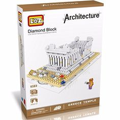 LOZ Diamond Blocks World Famous Architecture Series - Greek Temple