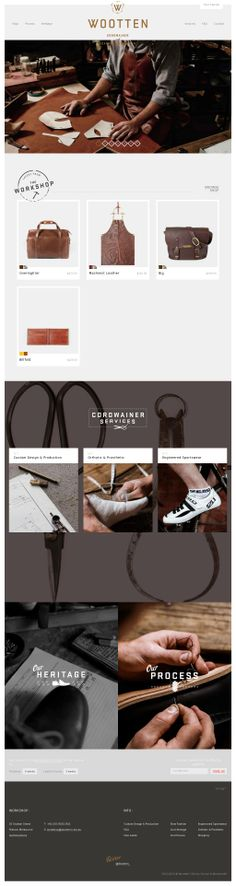 Wootten | Cordwainer and Leather Craftsmen – Custom-made shoes, bags, aprons – bespoke Melbourne shoemaker