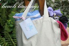 beach bag tag
