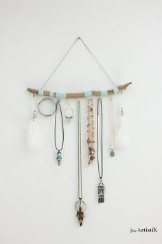 Jewelry display painted Driftwood Driftwood green water and