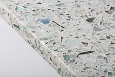 The depth and reflections in the large shards of Palladian Grey Vetrazzo are like windows into the counter surface. And the raise texture of the Sea Pearl finish adds to the effect. Design by @Tori   Kitchen   countertop   Beach house decor