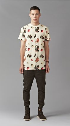 Cream Fruit Tee - i love ugly #men's fashion