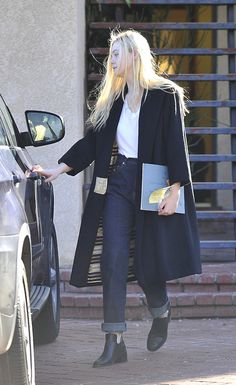 suicideblonde:    Elle Fanning out in Studio City yesterday  I love this girl and her timeless style.    EXCELLENT
