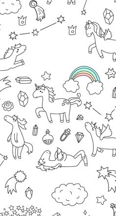 Find Cute Unicorn Pony Collection Magic Items stock images in HD and millions of other royalty-free stock photos, illustrations and vectors in the Shutterstock collection. Cool Wallpaper, Wallpaper Backgrounds, Iphone Wallpaper, Unicorns Wallpaper, Wallpaper Doodle, Screen Wallpaper, Pattern Wallpaper, Unicorn Art, Cute Unicorn